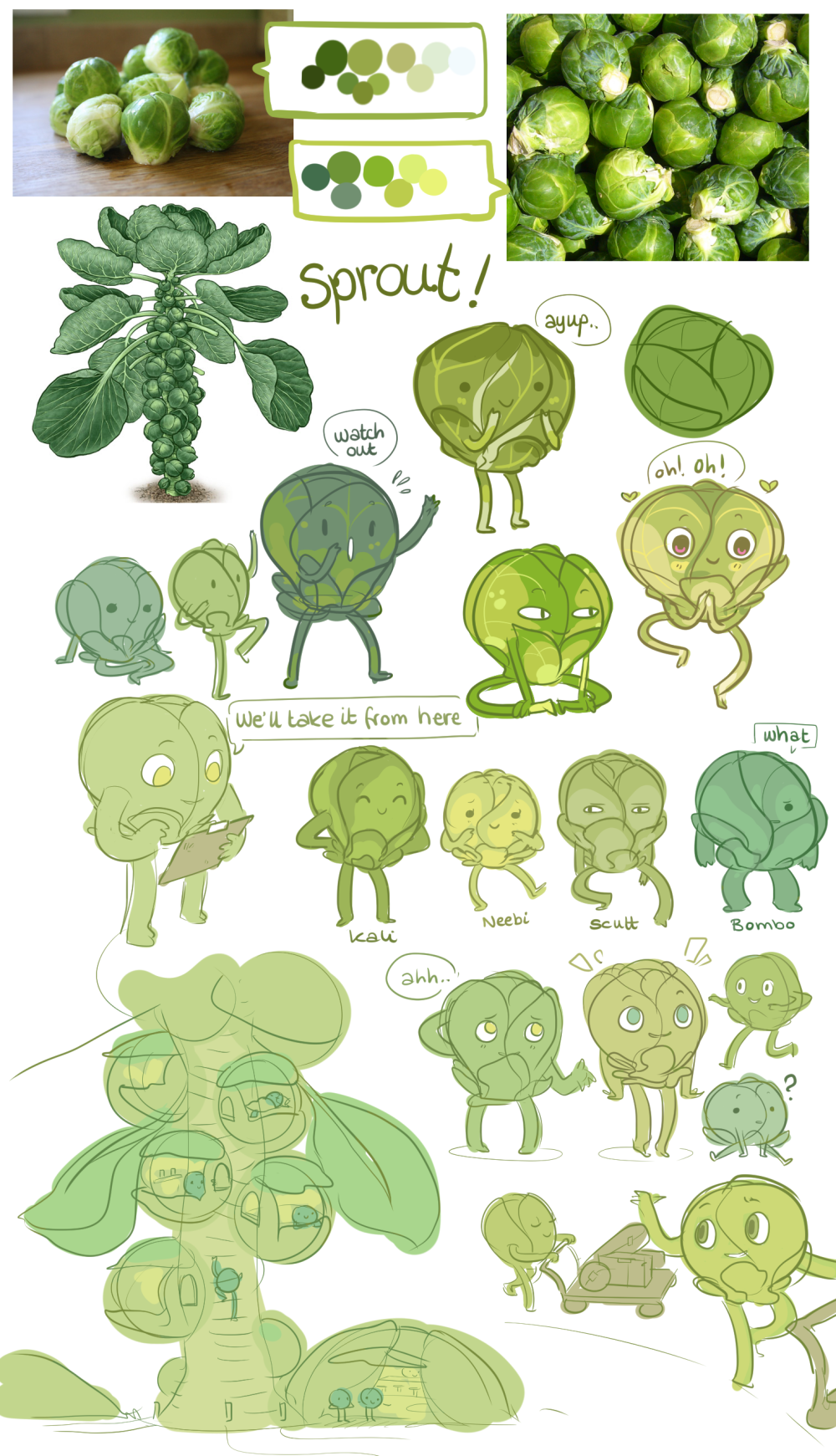 Slightly Eccentric Sketches Sprouts