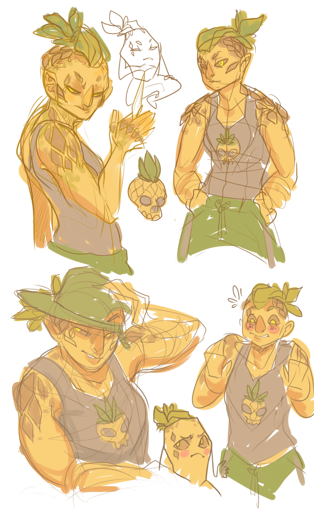 Slightly Eccentric Sketches Pineapples 2